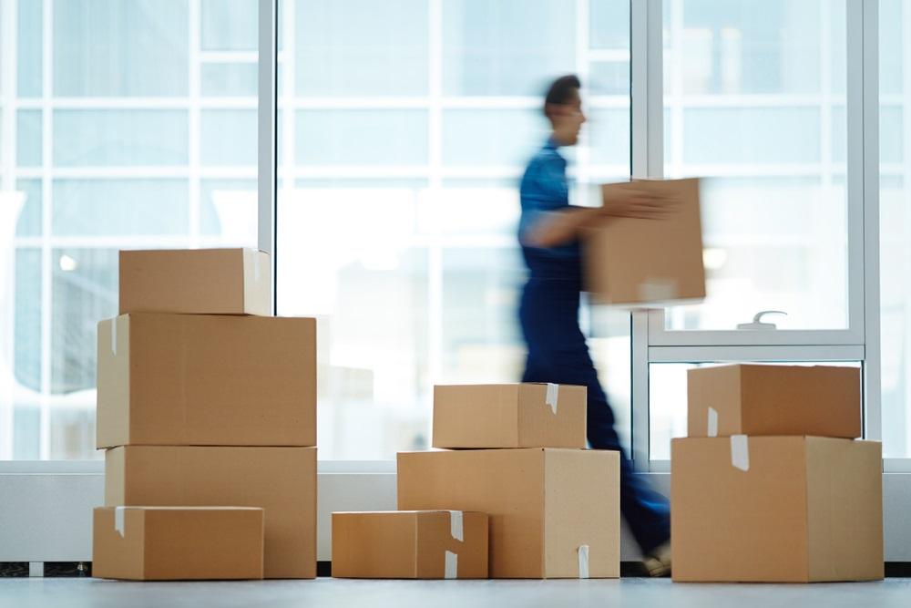 Inpakken kantoorverhuizing