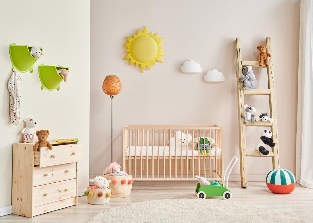 Gebruik hout in de babykamer